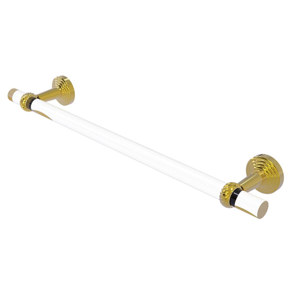 Allied Brass Pacific Beach Collection 24 Inch Towel Bar with Twisted Accents
