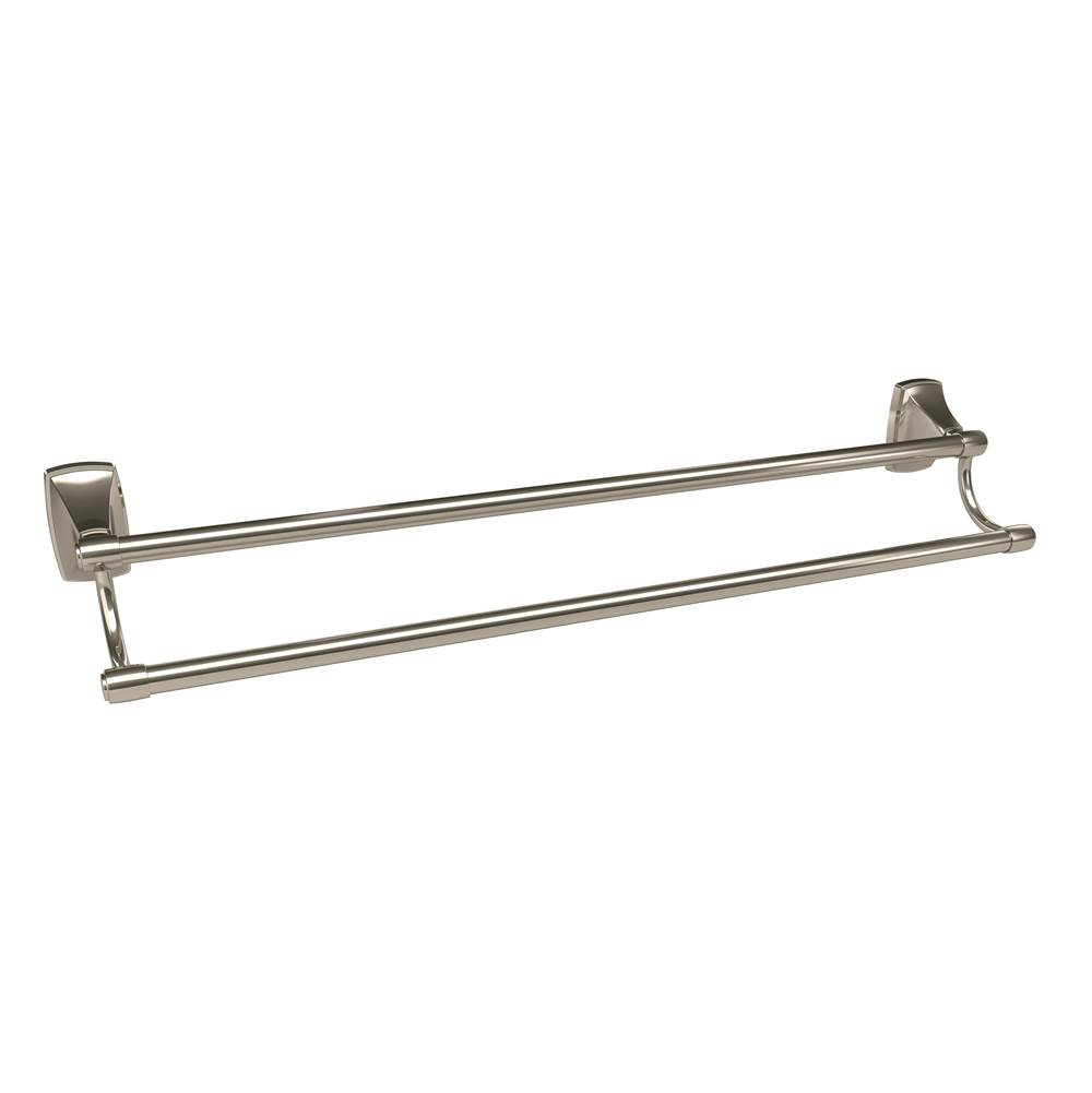 Amerock Clarendon 24 in (610 mm) Double Double Towel Bar in Polished Nickel