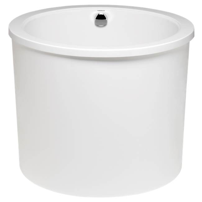 Americh Jacob - Tub Only / Airbath 2 with integral drain, Biscuit