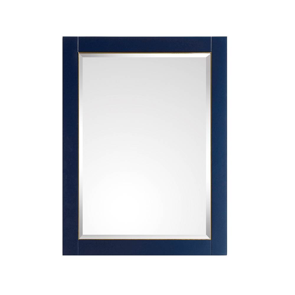 Avanity Avanity Mason 24 in. Mirror in Navy Blue with Gold Trim