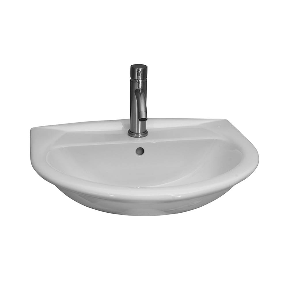 Barclay Karla 605 Wall-Hung Basin8'' cc, White