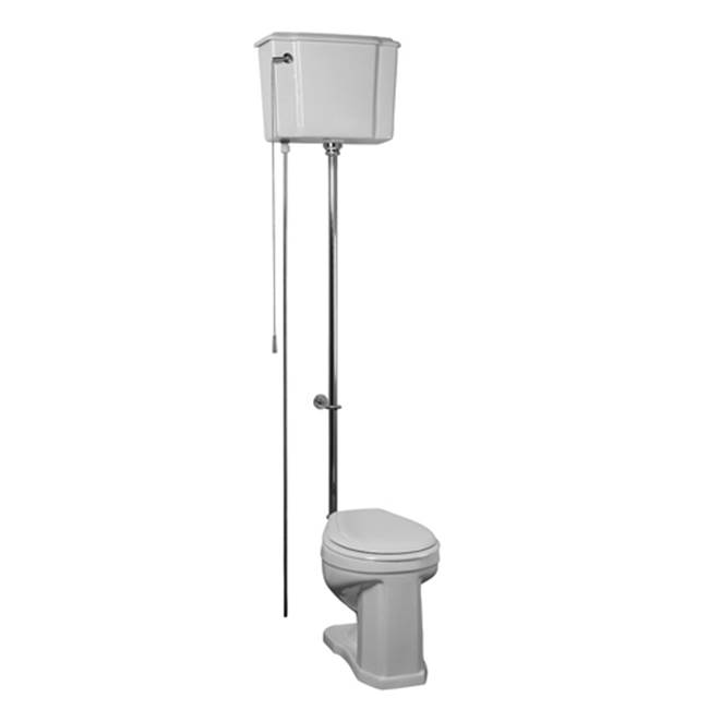Barclay Victoria High Tank Toilet, 1.6GPF, White/Oil Rubbed Brz Trim