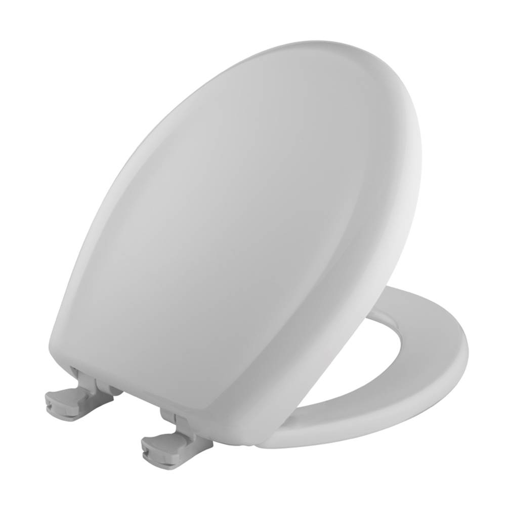 Bemis Round Plastic Toilet Seat in Crane White with STA-TITE Seat Fastening System, Easy-Clean & Change and Whisper-Close Hinge