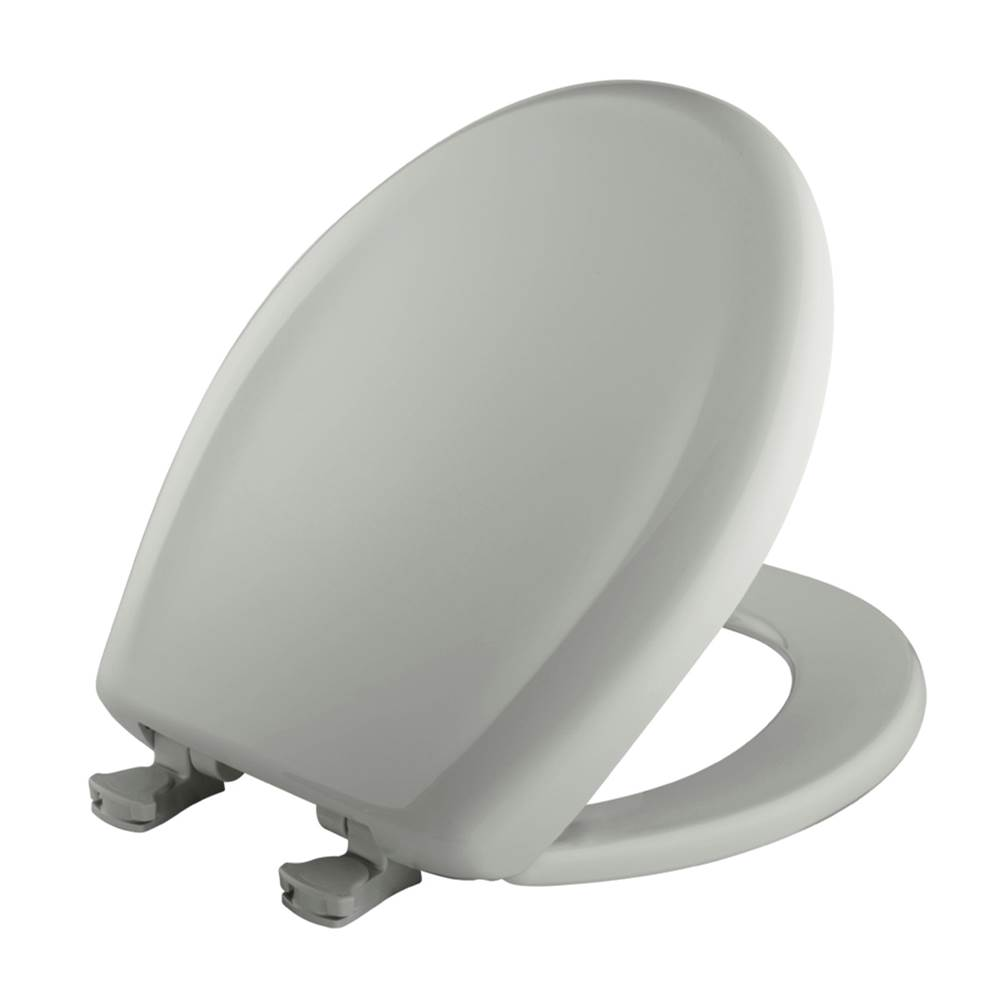 Bemis Round Plastic Toilet Seat in Ice Grey with STA-TITE Seat Fastening System, Easy-Clean & Change and Whisper-Close Hinge