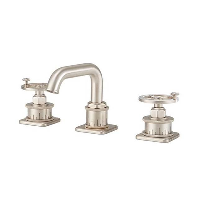 California Faucets Widespread Low Spout - Wheel Handle