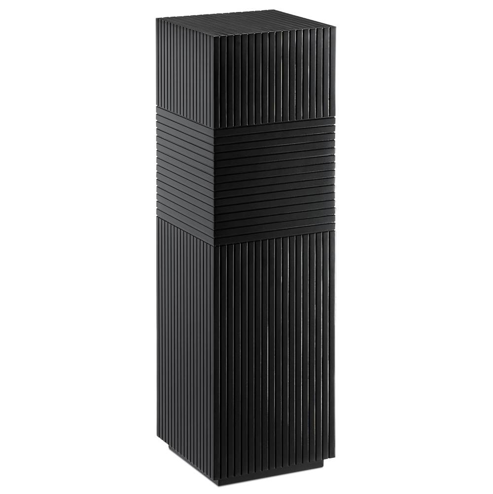 Currey And Company Odense Black Pedestal