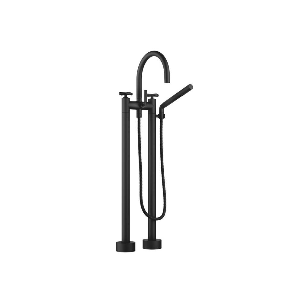 Dornbracht Two-hole tub mixer for freestanding installation with hand shower set