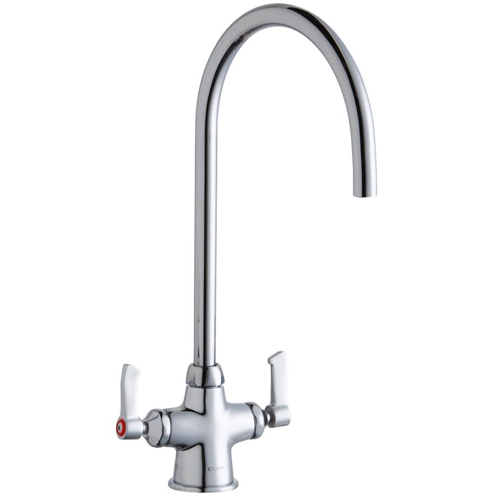 Elkay Elkay Single Hole with Concealed Deck Laminar Flow Faucet with 8'' Gooseneck Spout 2'' Lever Handles Chrome