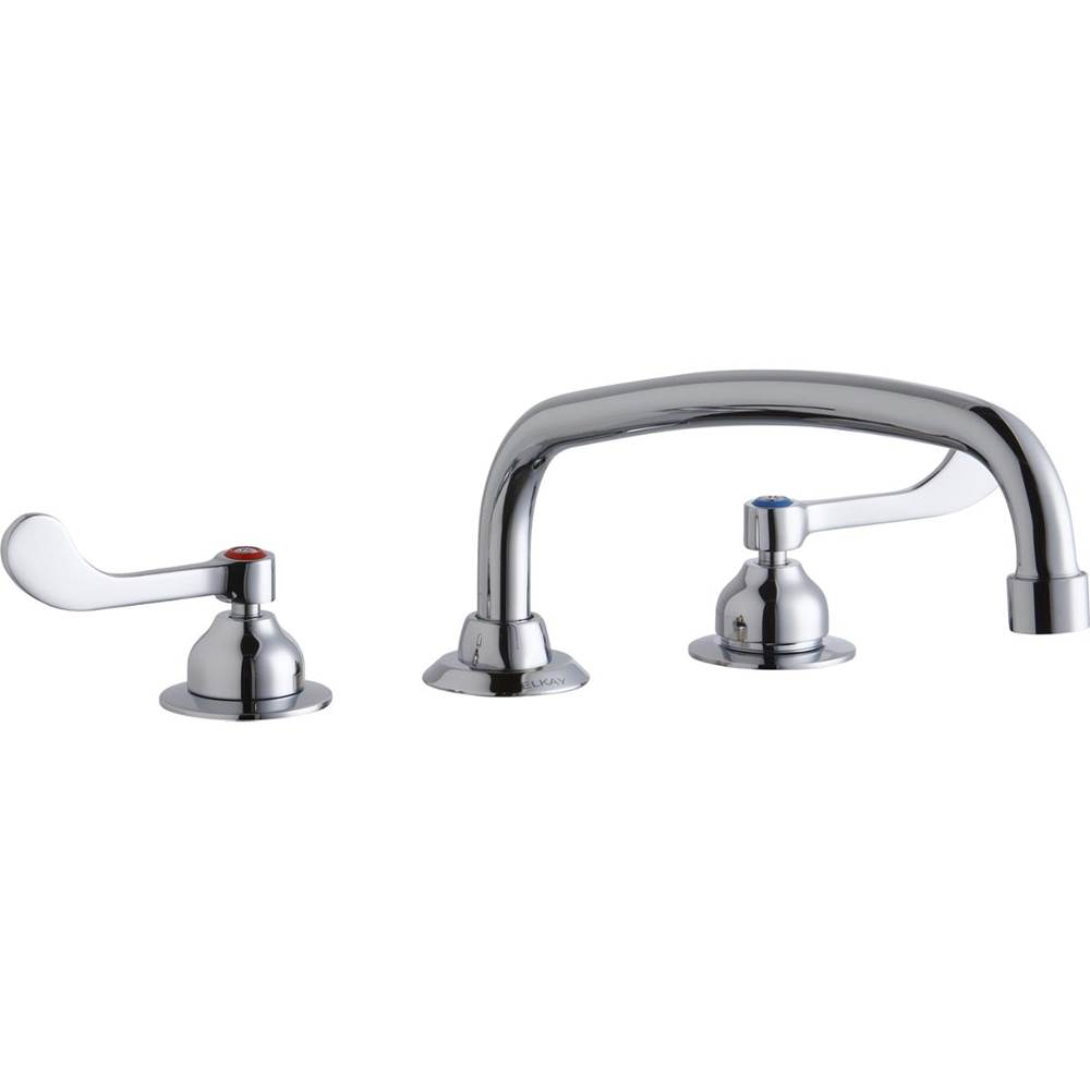 Elkay Elkay 8'' Centerset with Concealed Deck Faucet with 12'' Arc Tube Spout 4'' Wristblade Handles Chrome