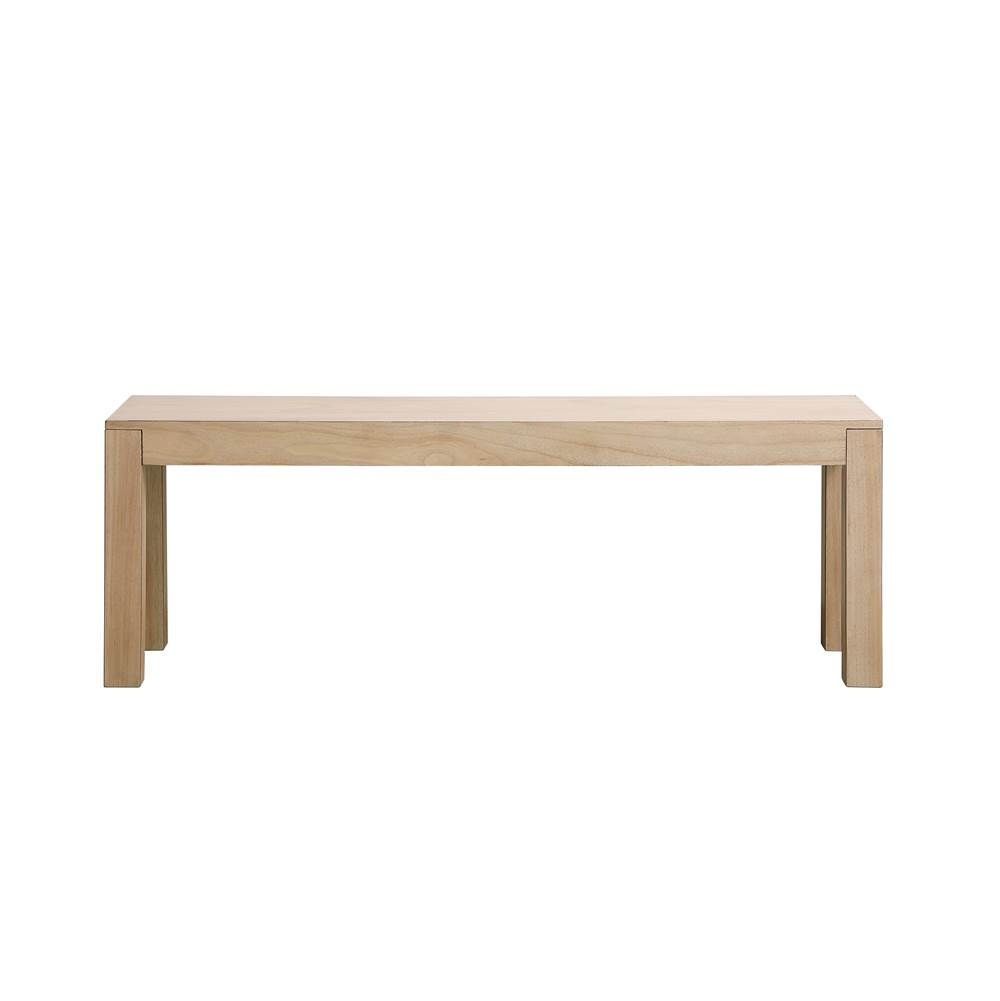 Elegant Lighting Harper 50 Inch Wooden Bench In Maple