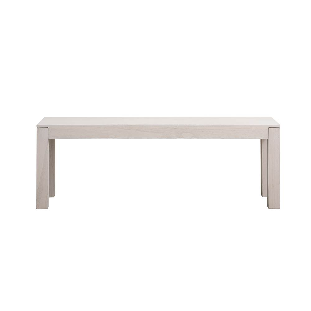 Elegant Lighting Harper 50 Inch Wooden Bench In Oyster