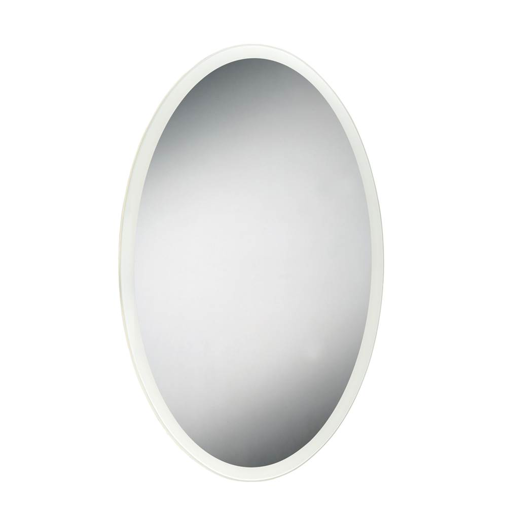 Eurofase Oval Edge-Lit LED Mirror, 35.5 Inches High by 23.5 Inches Wide - 29103-010