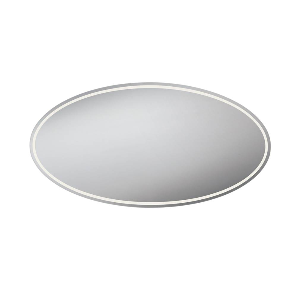 Eurofase Oval Back-Lit LED Mirror, 35.5 Inches High by 70.75 Inches Wide - 29106-011