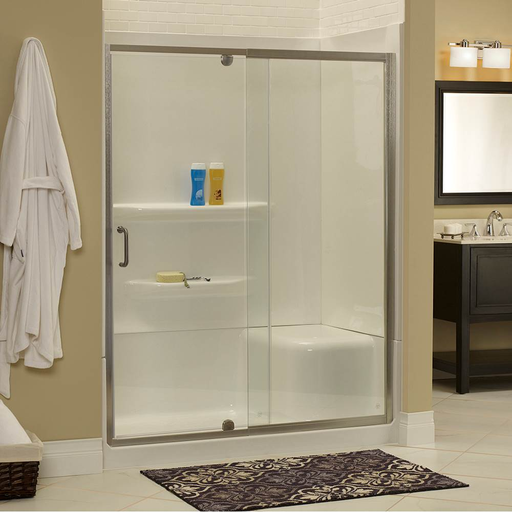 Foremost Cove 1/4'' Frameless Pivot Shower Door and In Line Panel Door