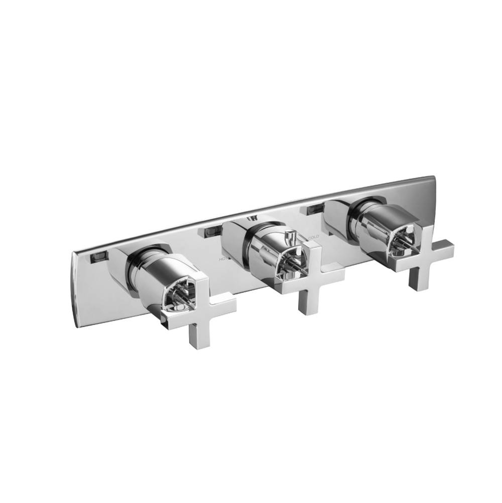 Isenberg Trim For 3/4'' Horizontal Thermostatic Valve with 2 Volume Controls  - Use with TVH.2715