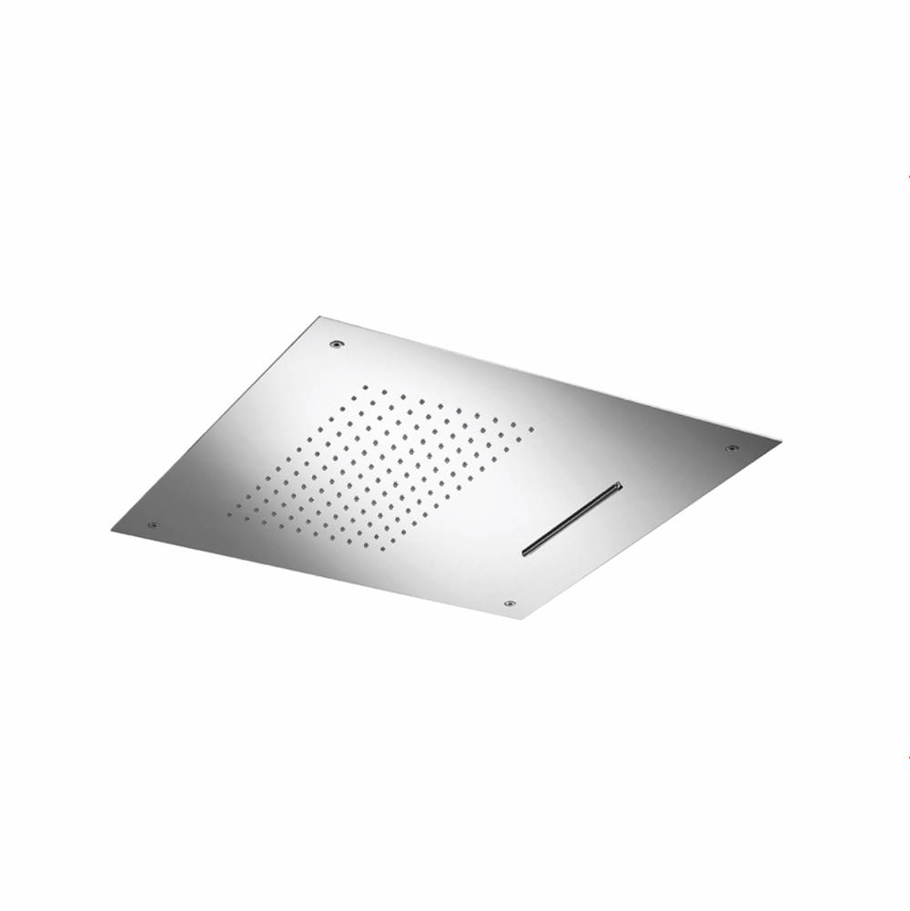 Isenberg 20'' Stainless Steel Flush Mount Rainhead With Cascade Watefall
