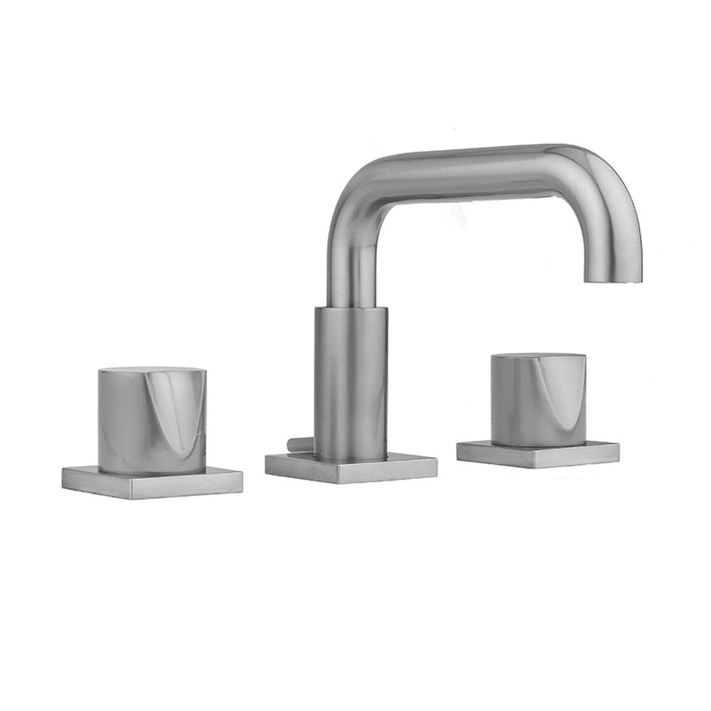 Jaclo Downtown Contempo Faucet with Square Escutcheons and Thumb Handles- 0.5 GPM