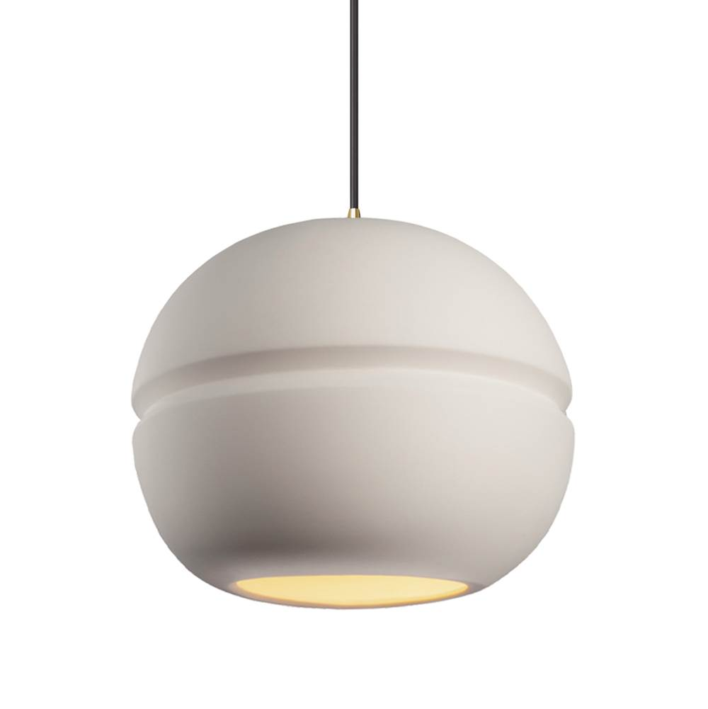 Justice Design Large Sphere 1-Light Pendant