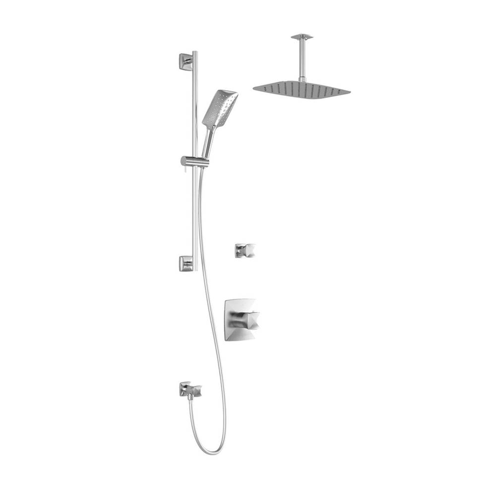 Kalia UMANI™ T2 PREMIA : Thermostatic Shower System Vertical Ceiling Arm Chrome