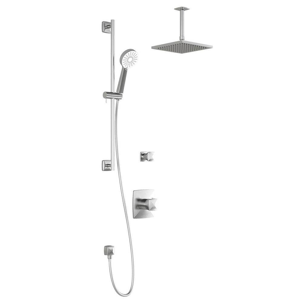 Kalia UMANI™ TG2 (Valves Not Included) : Water Efficient Thermostatic Shower System Vertical Ceiling Arm Chrome