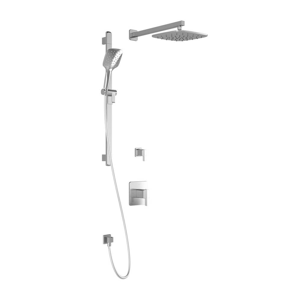 Kalia GRAFIK™ TD2 PLUS (Valves NotIncluded) : Thermostatic Shower System with Wallarm Chrome