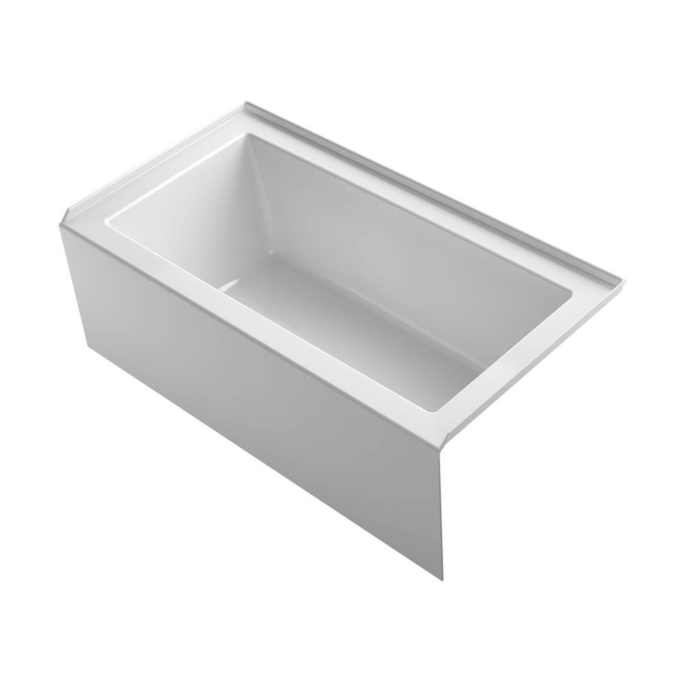 Kohler Underscore® Rectangle 60'' x 32'' alcove bath with integral apron, integral flange and right-hand drain