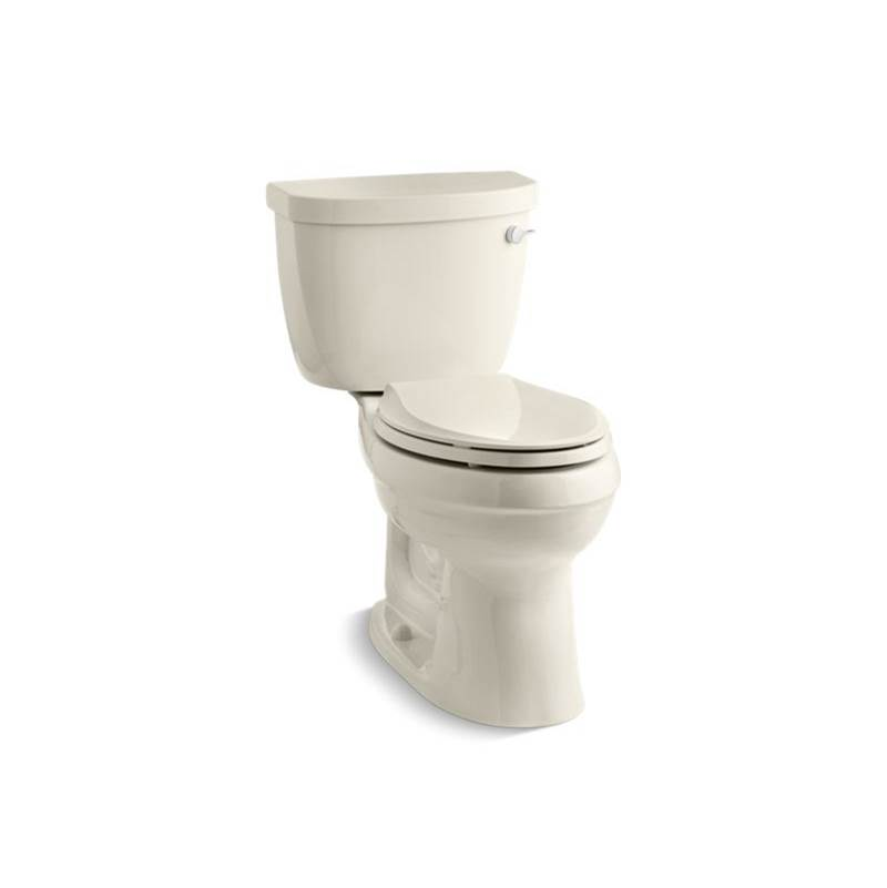 Kohler Cimarron® Comfort Height® Two-piece elongated 1.28 gpf chair height toilet with right-hand trip lever