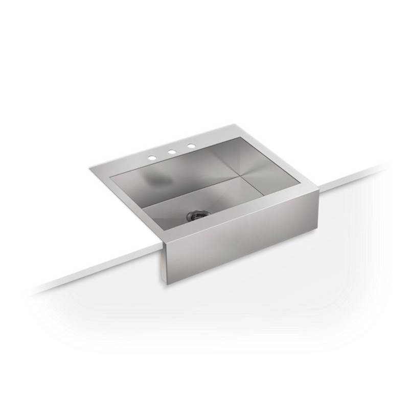 Kohler Vault™ 29-3/4'' x 24-5/16'' x 9-5/16'' top-mount single-bowl stainless steel farmhouse kitchen sink for 30'' cabinet
