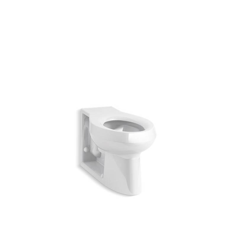 Kohler Anglesey™ Floor-mounted rear spud flushometer bowl with integral seat