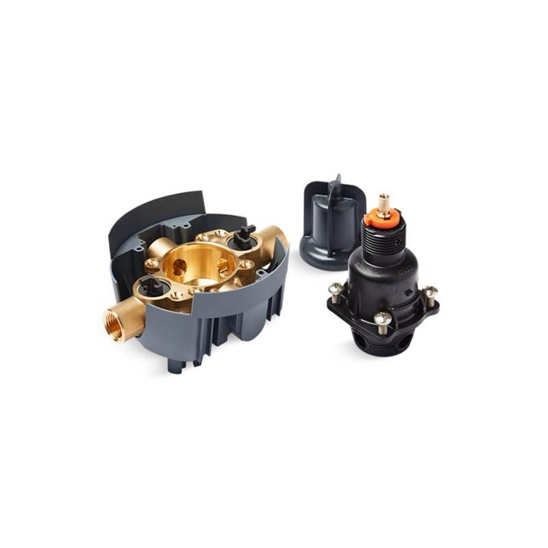 Kohler Rite-Temp® valve body and pressure-balance cartridge kit with service stops and female NPT connections, project pack
