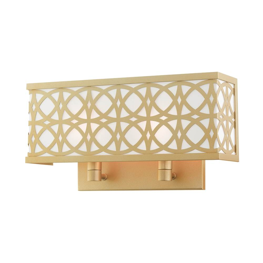 Livex Calinda 2 Lt Soft Gold ADA Double Sconce in Soft Gold