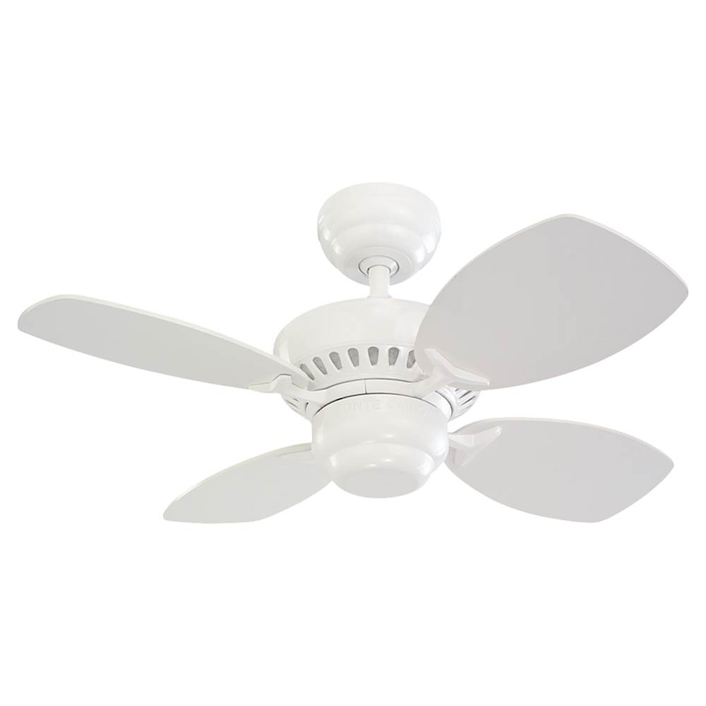 Monte Carlo Fans 28'' Colony II Fan - White