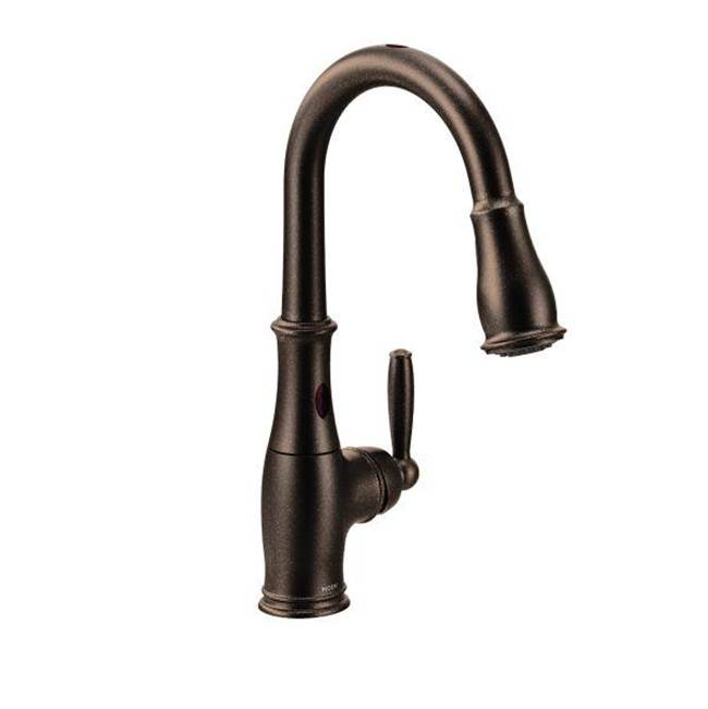 Moen Oil rubbed bronze one-handle pulldown kitchen faucet