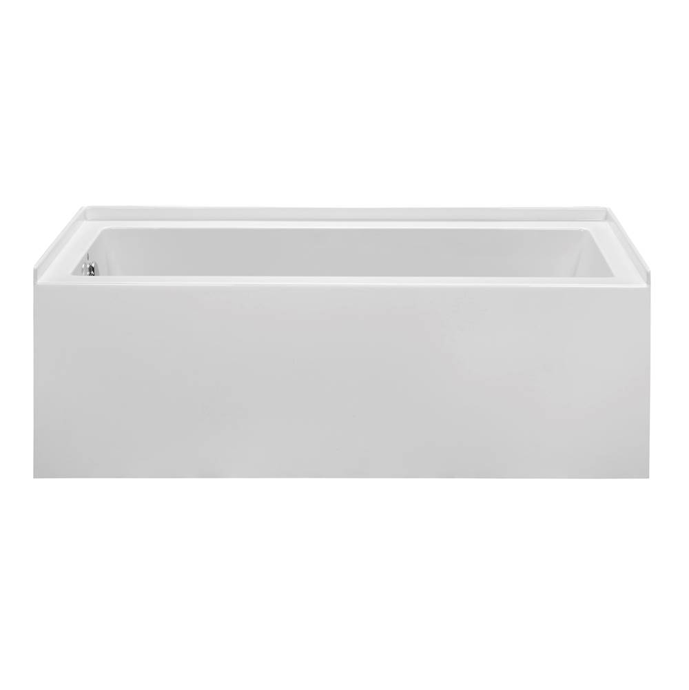 MTI Basics 60X30 Biscuit Right Hand Drain Integral Skirted Whirlpool W/ Integral Tile Flange-Basics