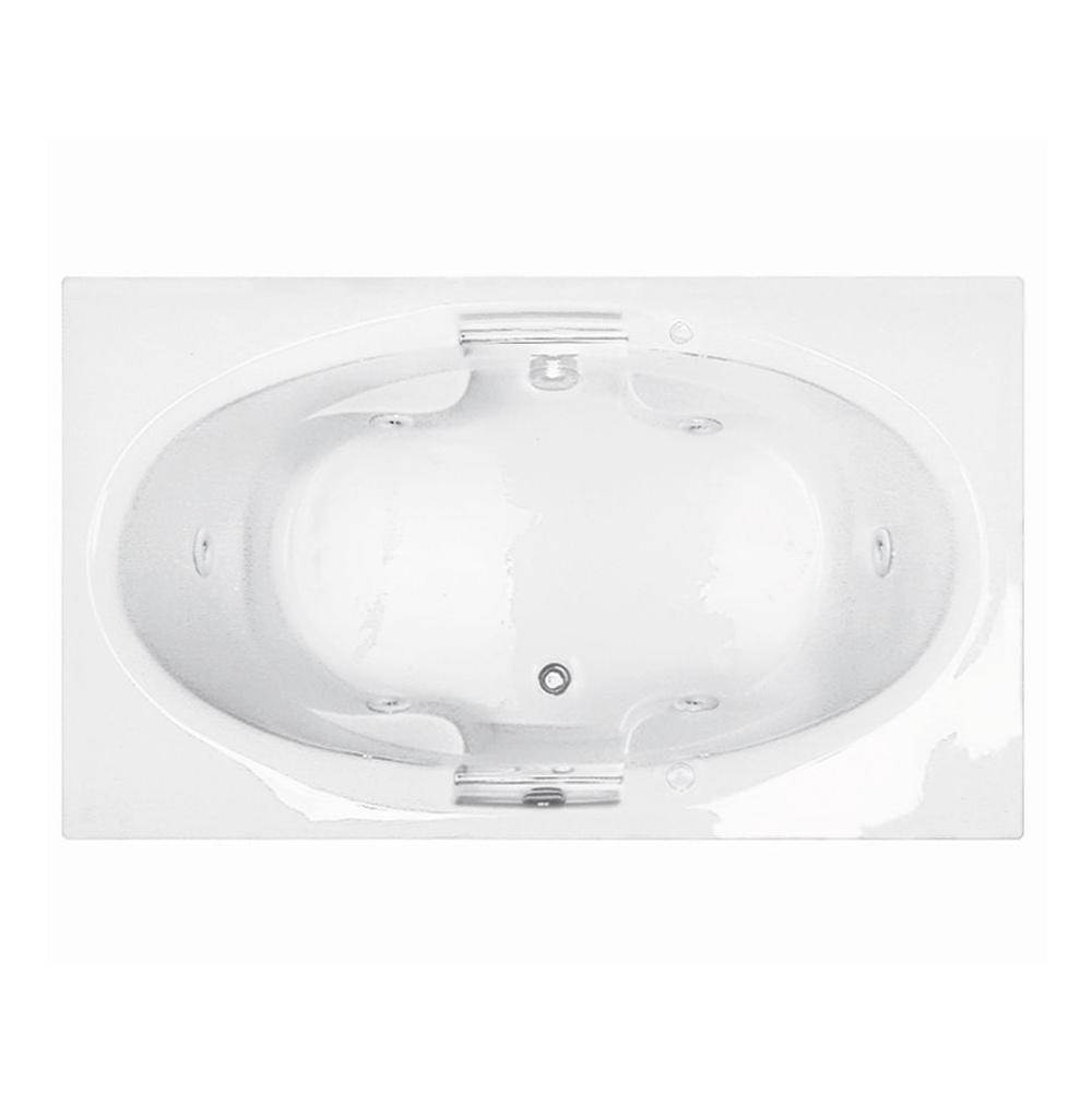MTI Basics 71X42 Biscuit Center Drain Whirlpool-Basics