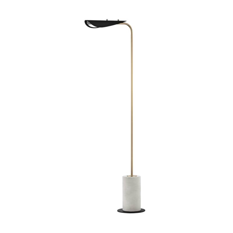 Mitzi 1 Light Floor Lamp With A Concrete Base