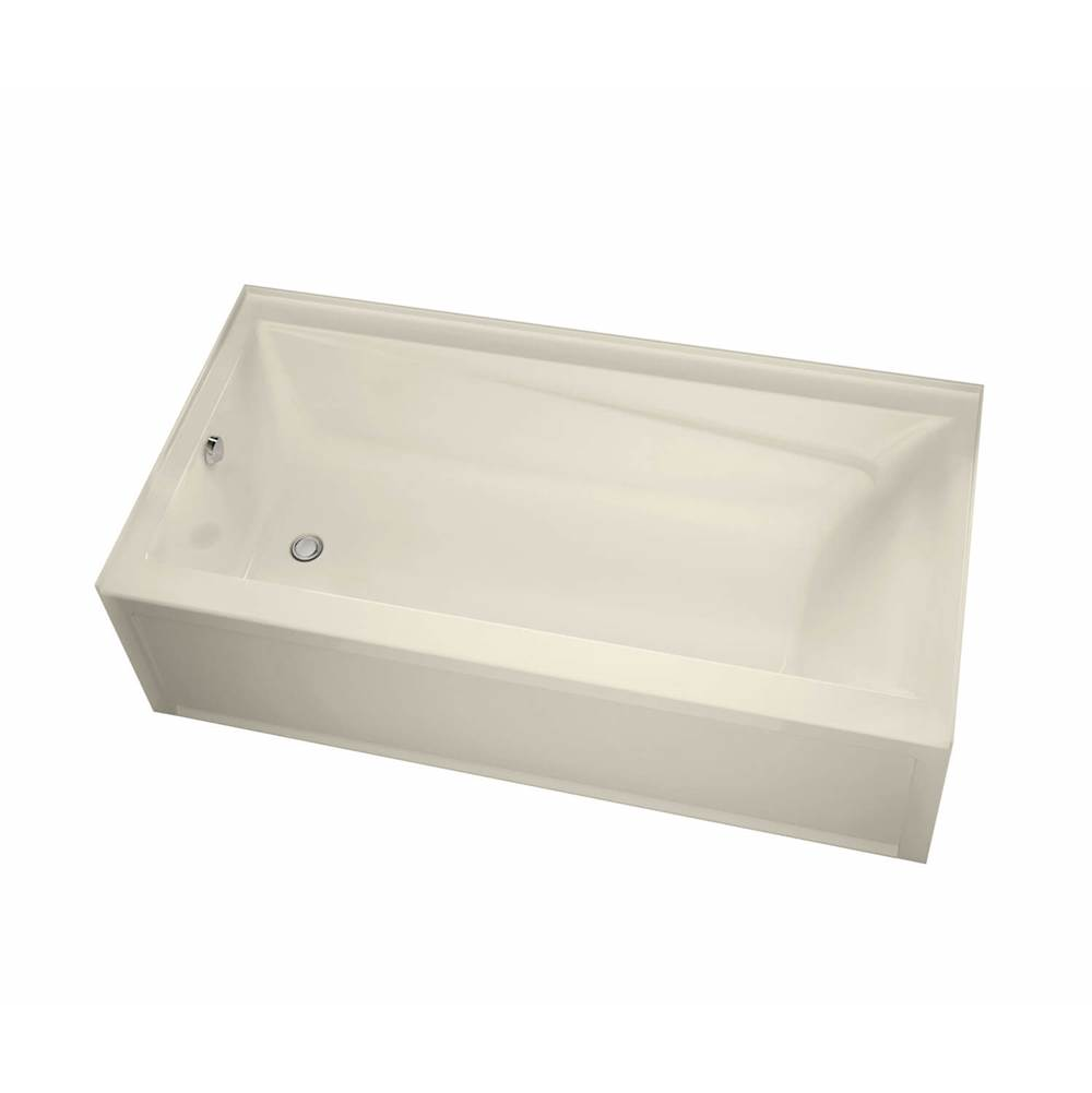 Maax Exhibit IFS 59.75 in. x 30 in. Alcove Bathtub with Aeroeffect System Left Drain in Bone