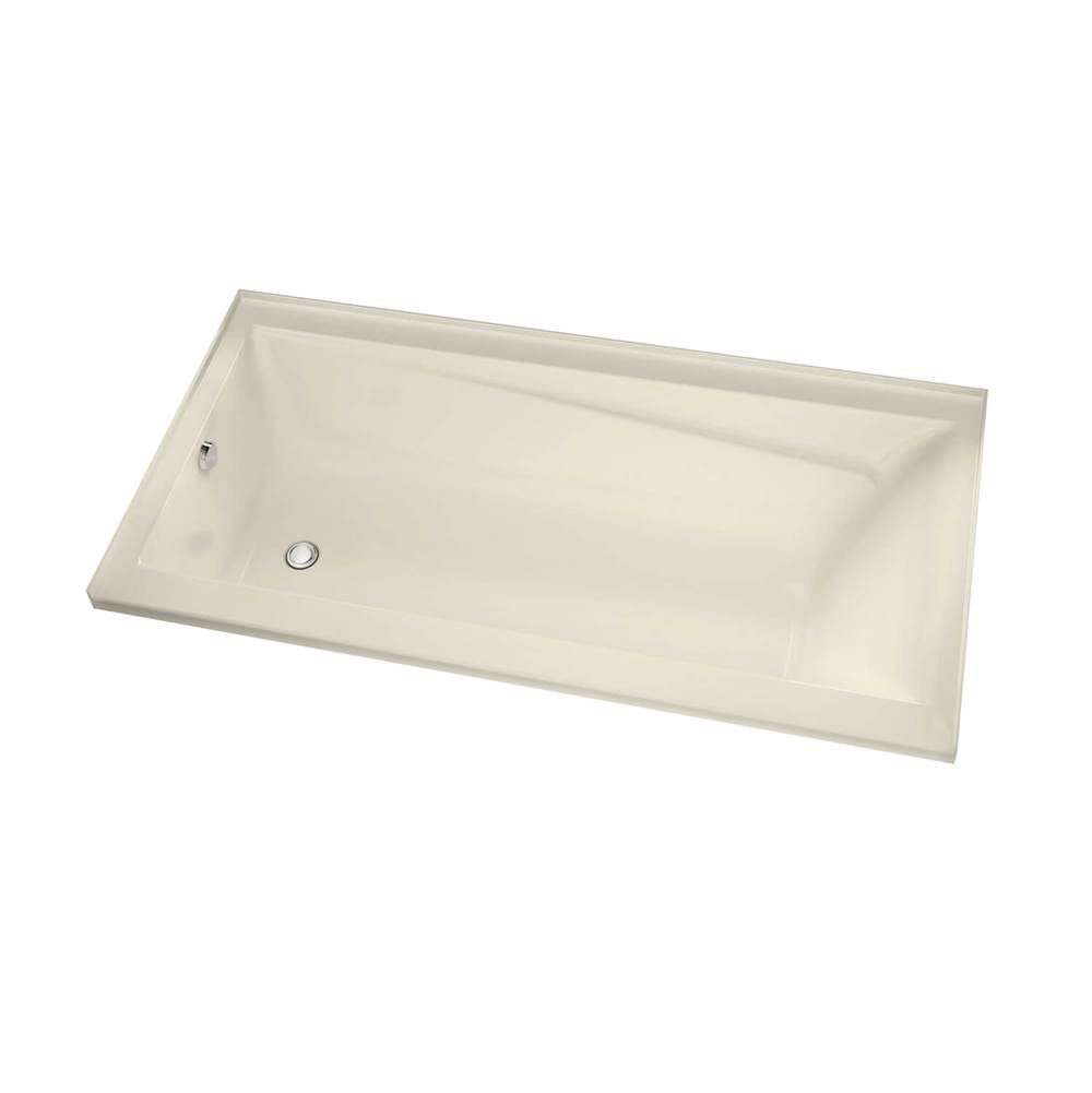 Maax Exhibit IF 71.875 in. x 42 in. Alcove Bathtub with Aeroeffect System Left Drain in Bone