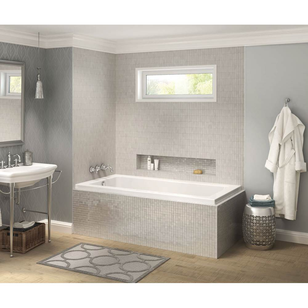 Maax Pose IF 65.75 in. x 35.625 in. Corner Bathtub with Left Drain in White