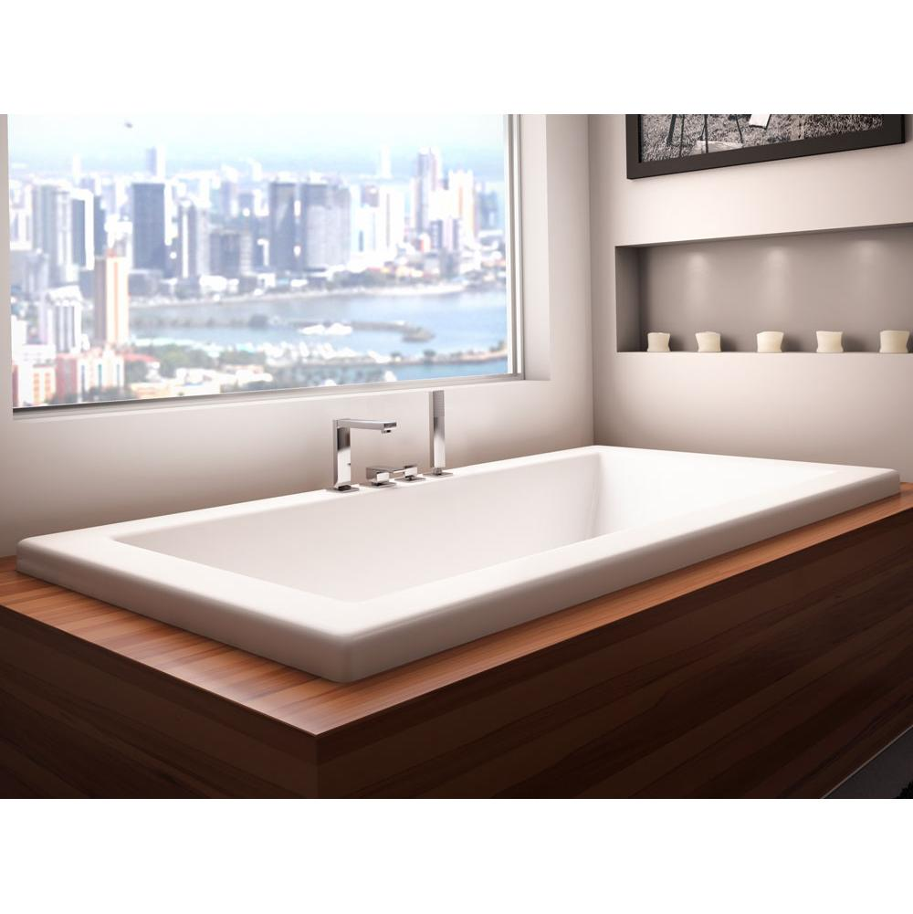 Neptune ZEN bathtub 30x60 with armrests and 3'' top lip, Whirlpool, Bone