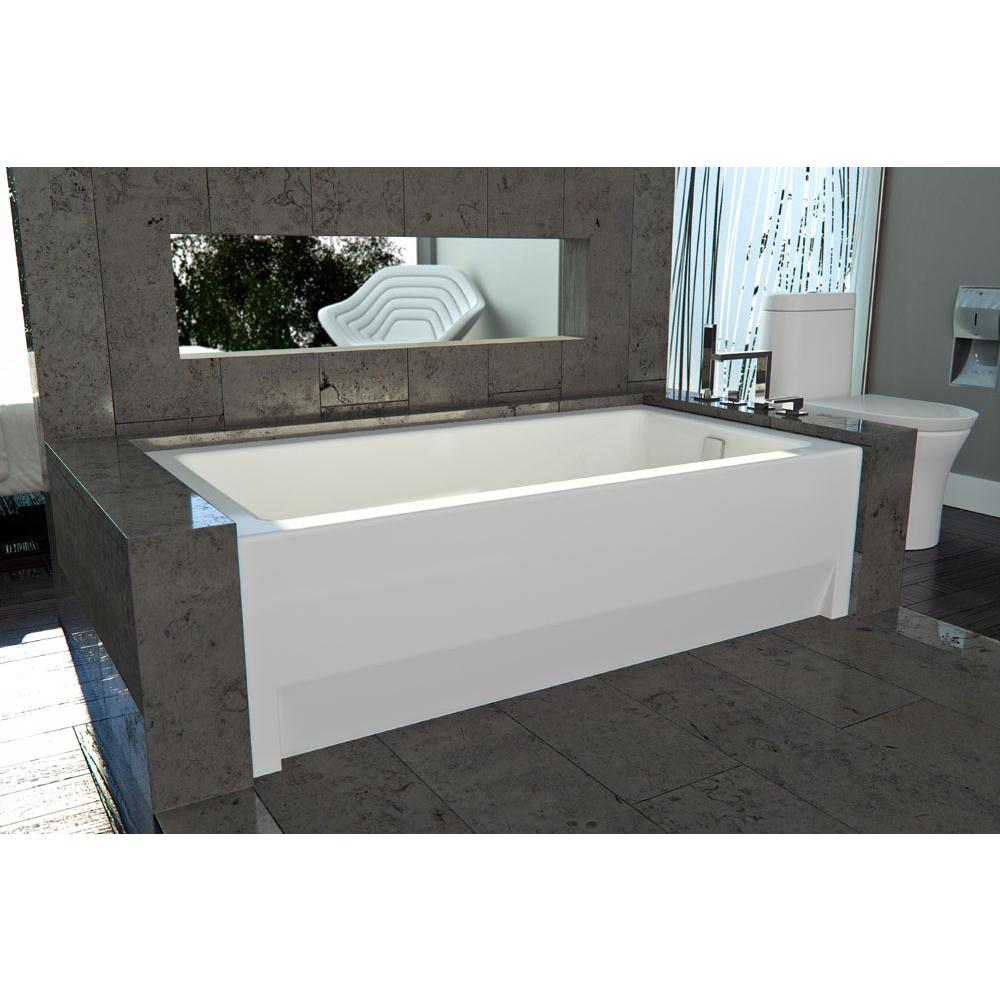 Neptune ZORA bathtub 36x66 with Tiling Flange and Skirt, Right drain, Whirlpool, Black