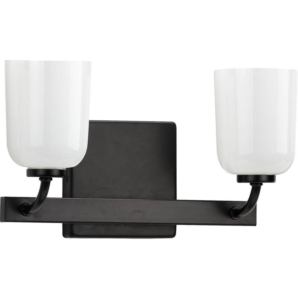 Progress Lighting Moore Collection Black Two-Light Bath