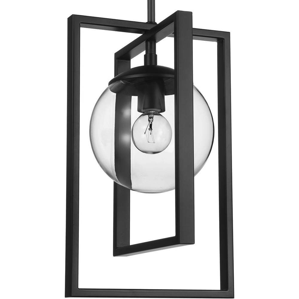 Progress Lighting Atwell Collection Black One-Light Pendant