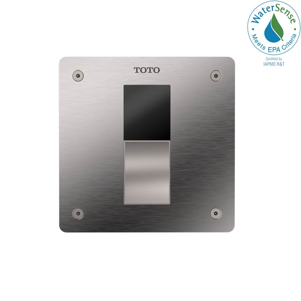Toto ECOPOWER® Touchless 1.0 GPF Toilet Flushometer Valve with 4 x 4 Inch Cover Plate, Stainless Steel