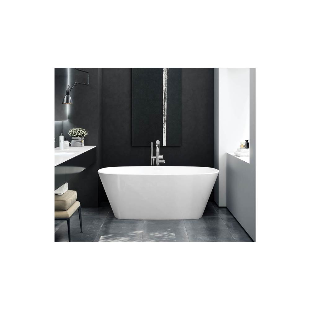 Victoria + Albert Victoria+Albert Vetralla 59'' Double-Ended Freestanding Bathtub In White Matte With Overflow
