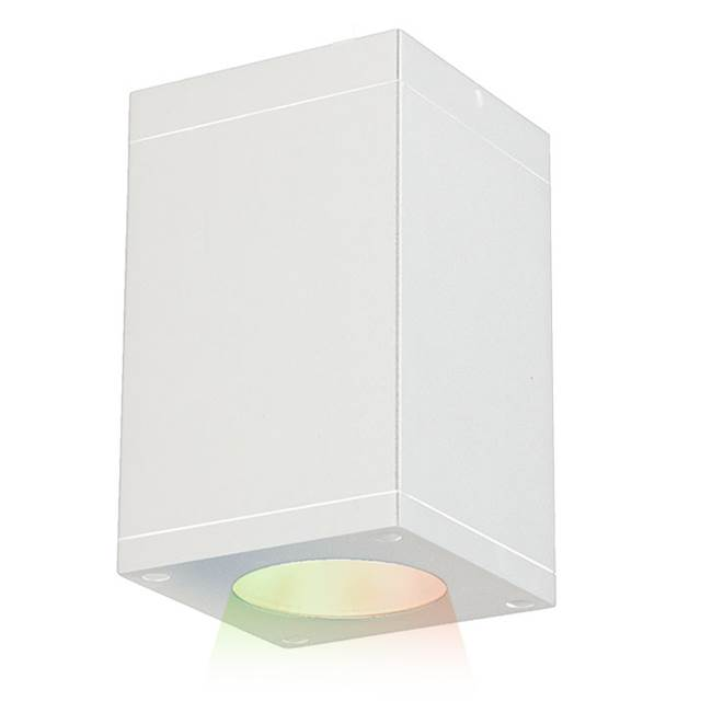 WAC Lighting Cube Architectural 5'' LED Color Changing Flush Mount